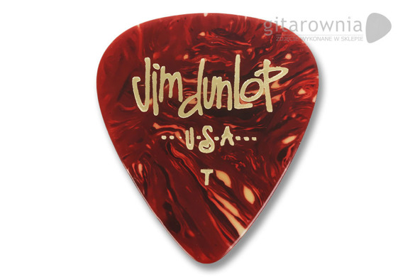 DUNLOP Genuine Celluloid kostka gitarowa Shell Thin