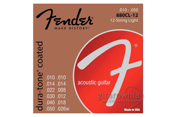 FENDER 880CL-12 struny | 10-50 | 12