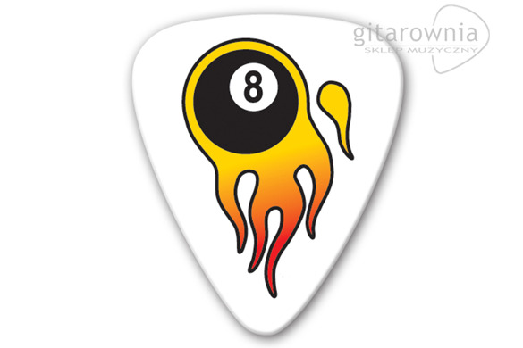 GROVER ALLMAN PIC5036 Flaming 8 Ball 5 Pack