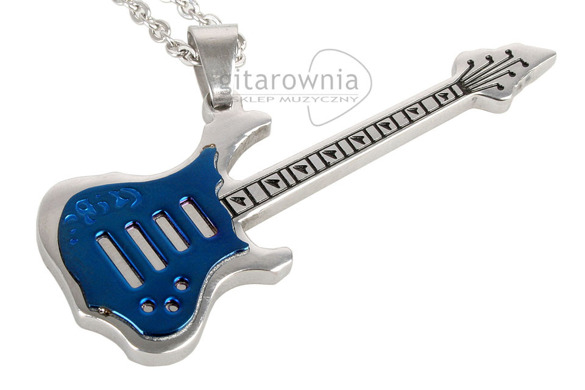 Wisior Titanium Guitar Blue Large