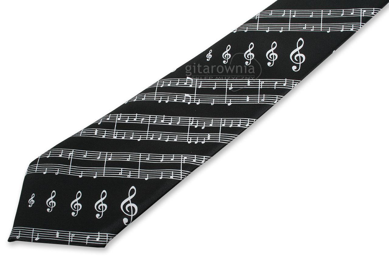 a293acfa732559 RUBY MG372 krawat nutki z muzycznym motywem