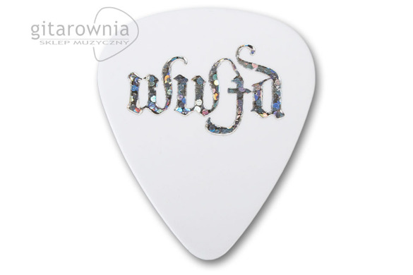 D'ANDREA kostka gitarowa Christian Symbols - WWJD What Would Jesus Do? (White, Heavy)