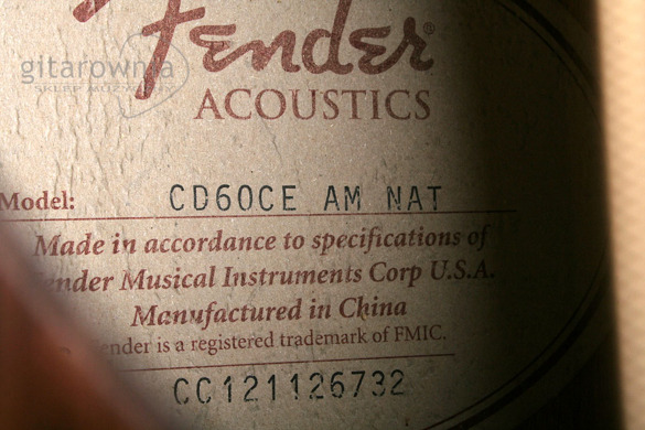 FENDER CD60 CE AM NAT