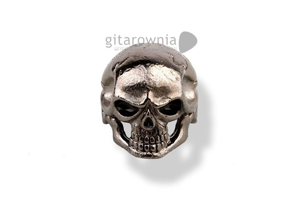 Q-PARTS Custom Jumbo Skull Black gałka